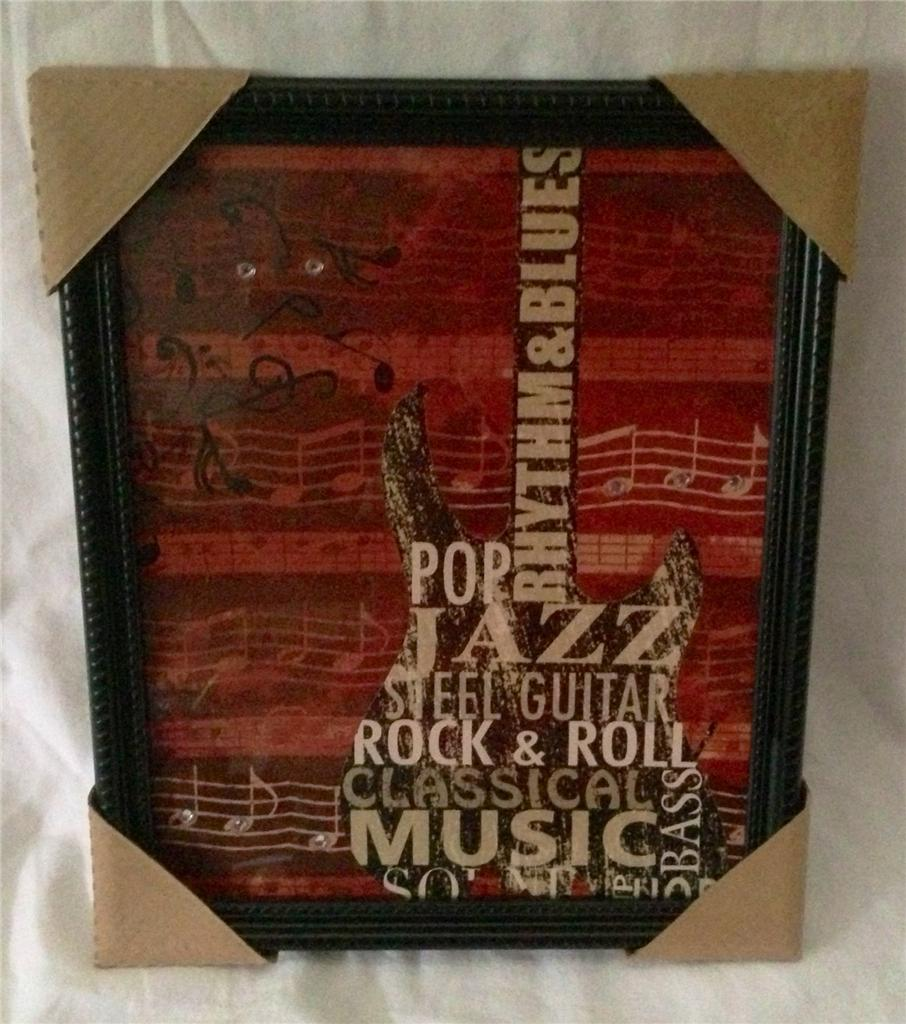 Rock star theatre room music media guitar picture home for Rock home decor