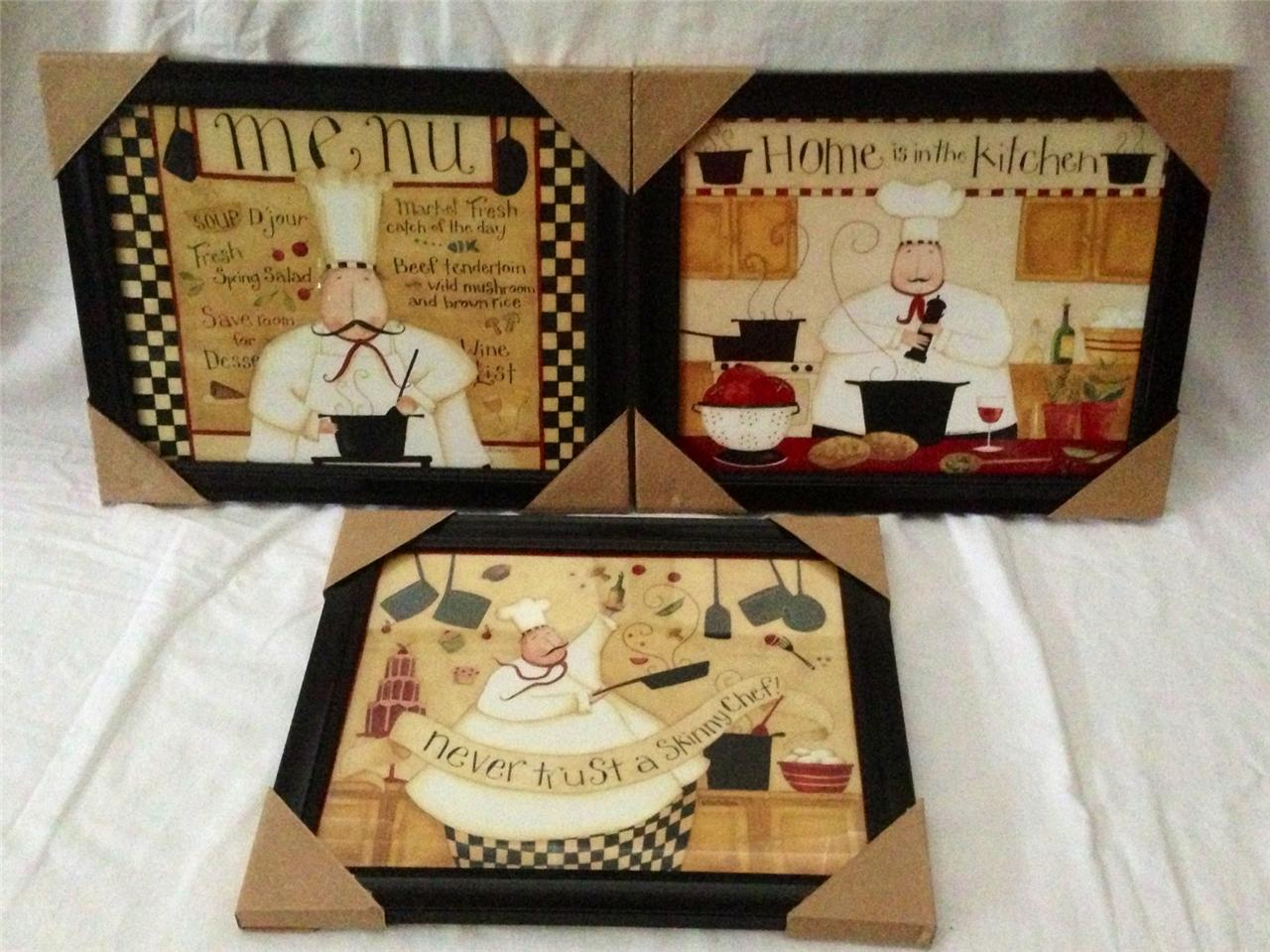 Http Ebay Com Itm Fat Chef Italian Bistro Cafe Home Kitchen Interior Plaque Picture Lot Decor Set 140970049468 Pt Plaques Signs Hash Item20d2783fbc