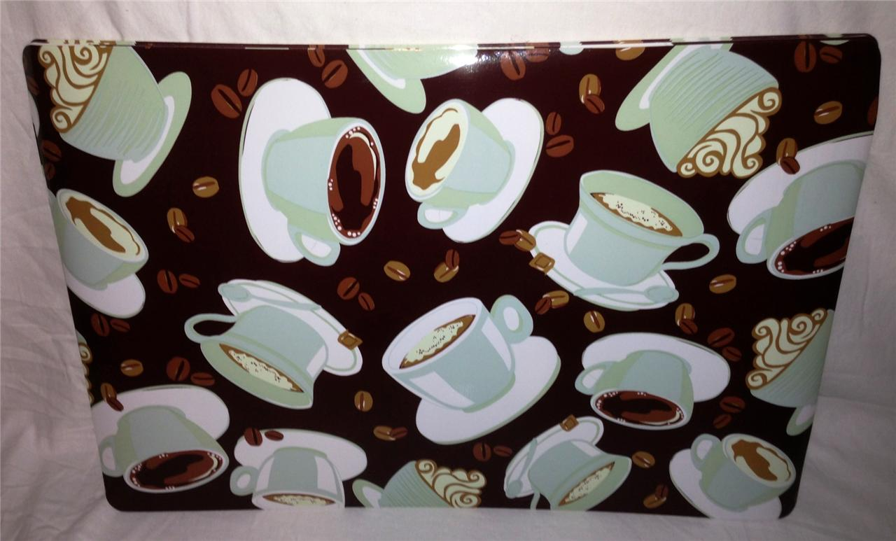Coffee Mocha Latte Cafe Theme Home Kitchen Vinyl Placemat