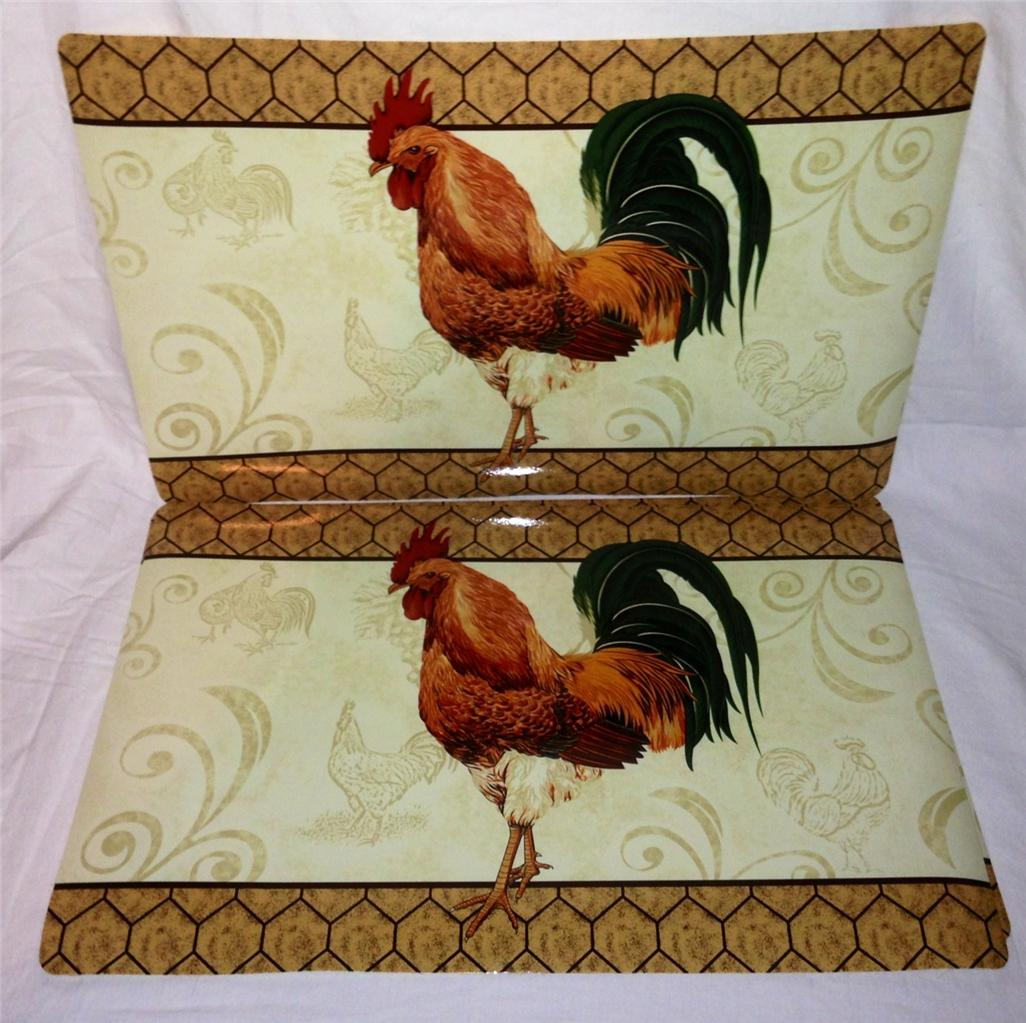Bistro Rooster Theme Cafe Home Kitchen Vinyl Table