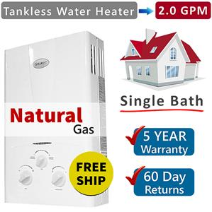 tankless hot water heater 2 gpm marey natural gas on demand water heater 1 bath ebay. Black Bedroom Furniture Sets. Home Design Ideas