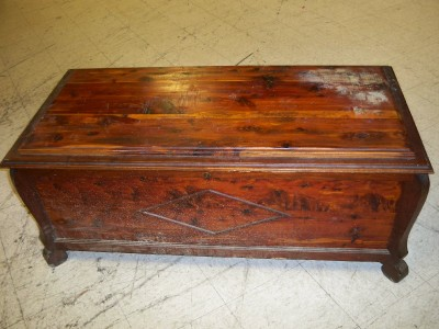 Vintage Cedar Wood Chest Foot Rest Coffee Table Storage Trunk Box Free Shipping Ebay