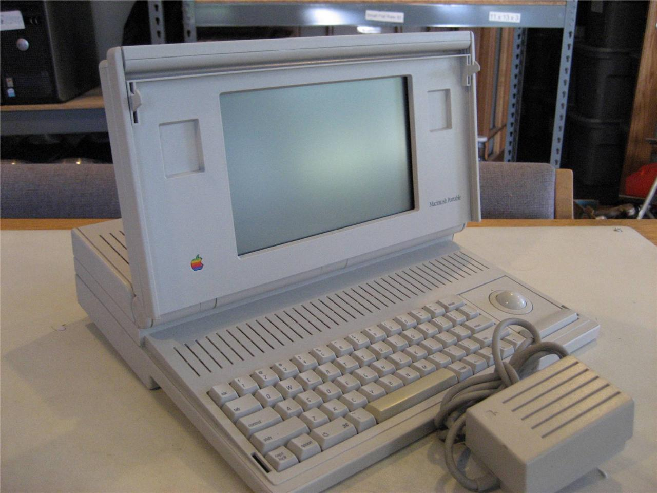 apple m5120 macintosh portable computer 4mb ram 40mb hdd as is 6491 ebay. Black Bedroom Furniture Sets. Home Design Ideas