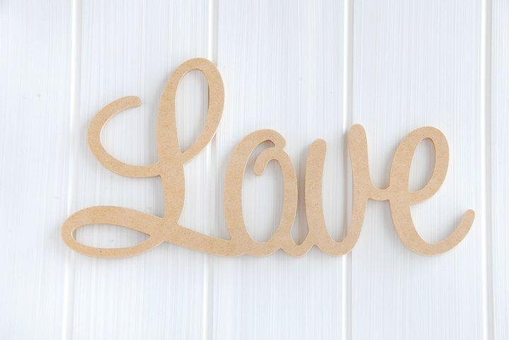 Wooden Words Wall Art : Wooden raw mdf letter word live laugh love wall decor