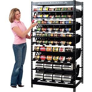 harvest food rotation system by self reliance can food organizer. Black Bedroom Furniture Sets. Home Design Ideas