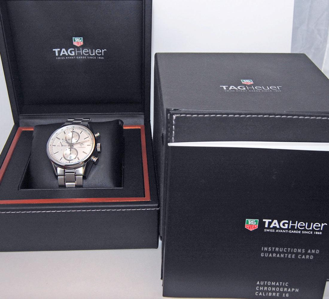 fs tag heuer carrera 1887 chronograph car2111 ba0720 mint w box papers warranty