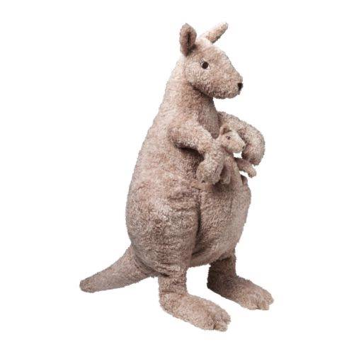 "Ikea Soft Toy Stuffed Animal Kangaroo Mom Baby 28"" Set of 2 New  eBay"