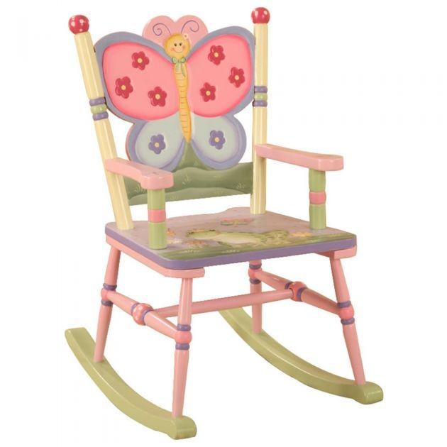 Teamson Magic Garden Rocking Chair Kids Girls Bedroom