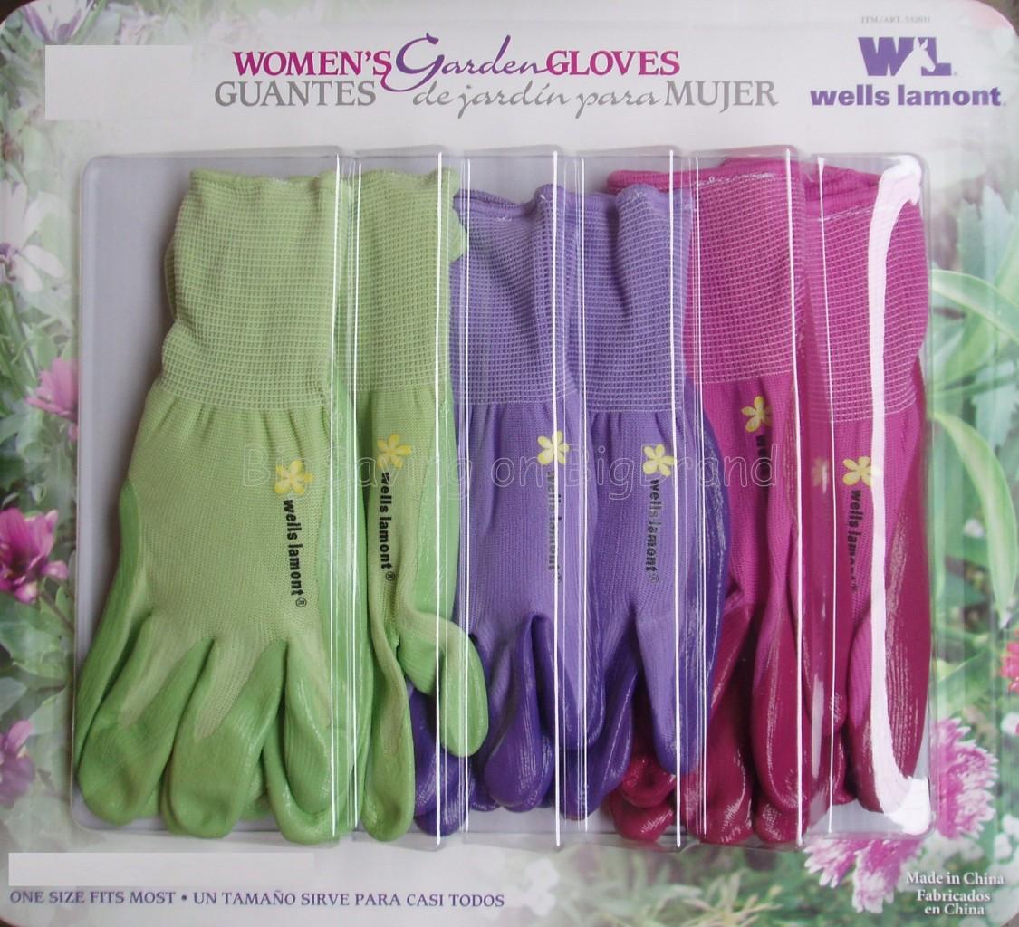 3 pairs ladies womens garden gardening gloves glove for Gardening gloves ladies