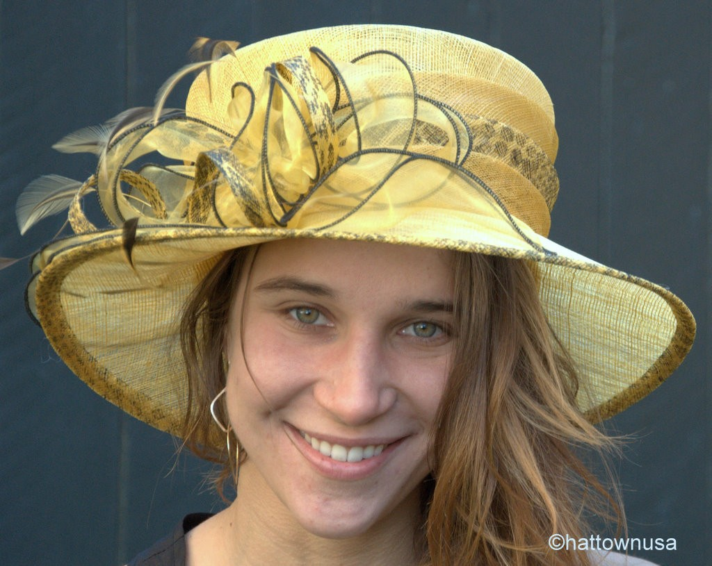 s hat kentucky derby hat sinamay straw animal print