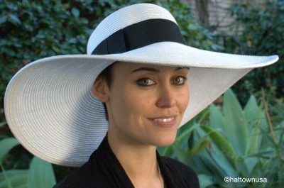 new s kentucky derby hat wide brim straw picture hat