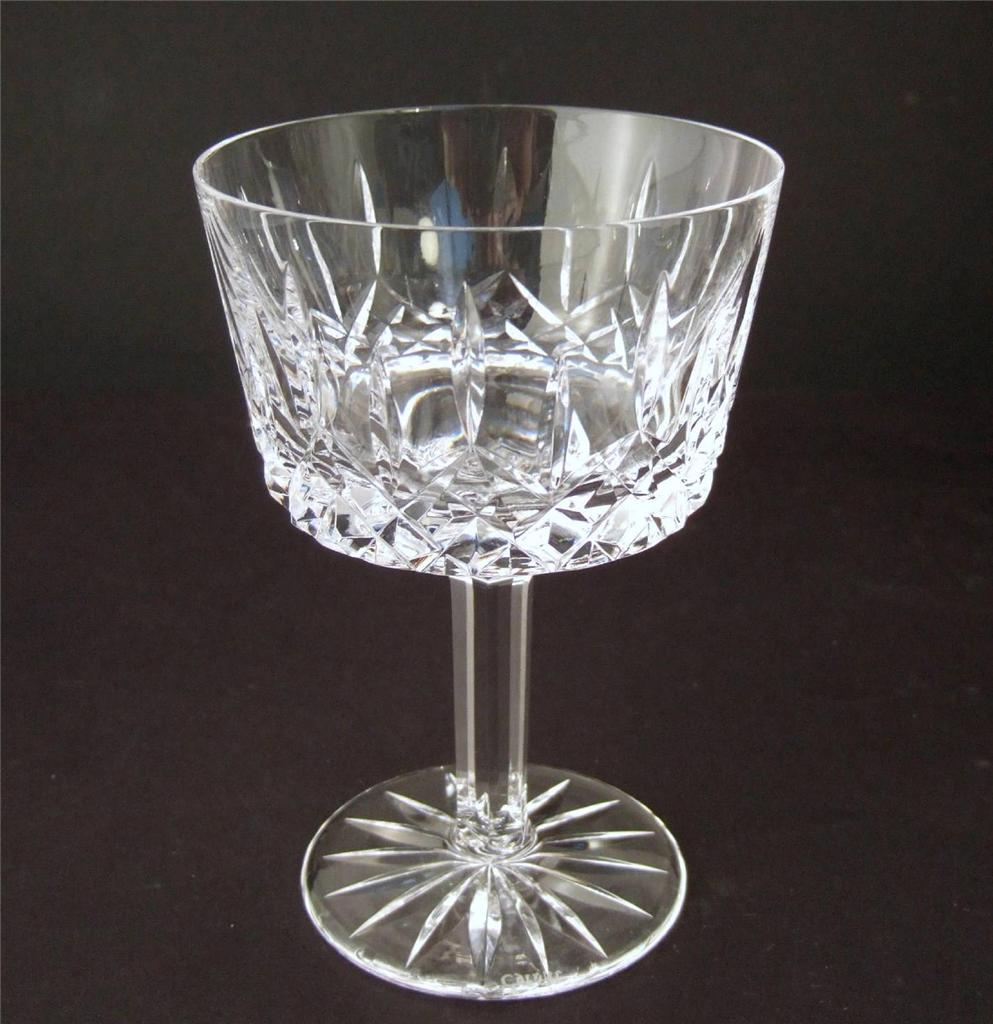 Tyrone crystal 39 rosses 39 39 roses 39 pattern cut glass ebay for How to cut yourself with glass
