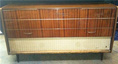 Vintage Grundig console stereo radio record player