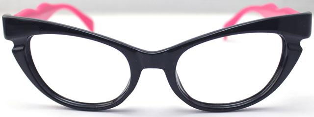 Eyeglass Frames No Lenses : Womens Vintage Retro Cat Eye Shiny Pink Black Eyeglass ...