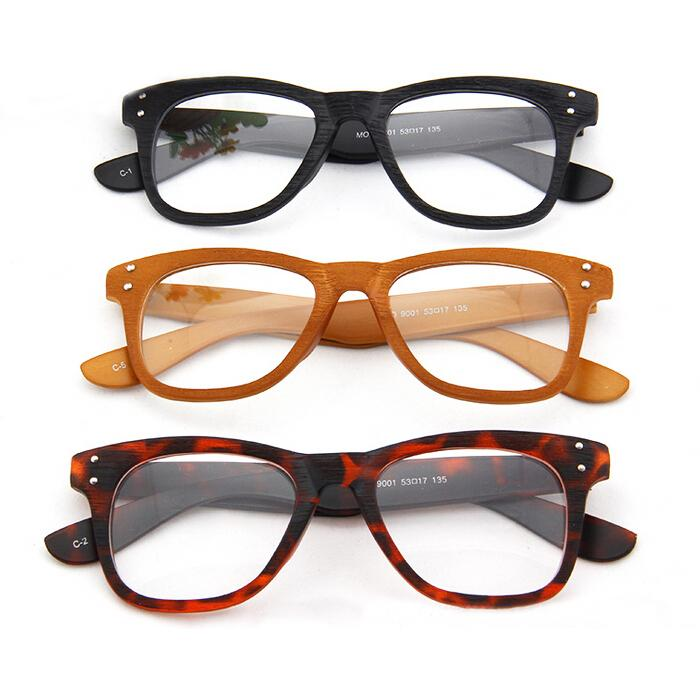Glasses Wood Stripe Eyeglass Frame Optical Spectacles ...