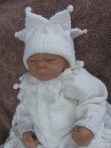 Knitting Pattern For Baby Jester Hat : KNITTING PATTERN **JESTER** BABY / REBORN MATINEE SET. eBay