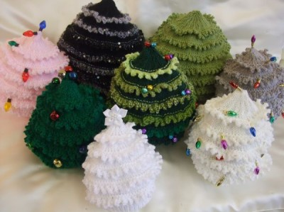 KNITTING PATTERN TO MAKE *CRISTMAS TREE HATS* IN 9 SIZES SMALL BABY TO ADULT ...