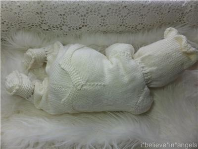 Angel Bear Knitting Pattern : KNITTING PATTERN TO MAKE *WALLACE* 3PIECE TEDDY SET FOR BABY OR REBORN DOLL ...