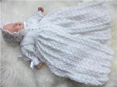 Christening Gown Knitting Patterns : KNITTING PATTERN (INSTRUCTIONS) TO MAKE *TOOTSIE* CHRISTENING GOWN AND DRES S...
