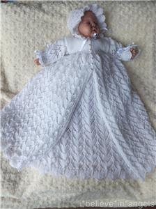 Christening Gown Knitting Patterns : KNITTING PATTERN (INSTRUCTIONS) TO MAKE *TOOTSIE* CHRISTENING GOWN AND DRES SET