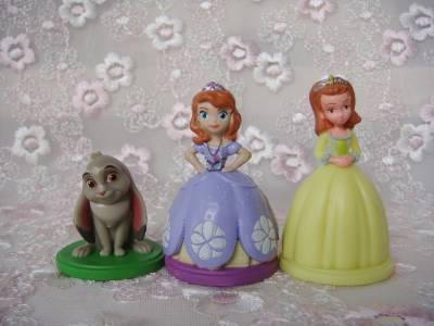 6pcs disney sofia the first amber princess small doll - Princesse sofia et ariel ...