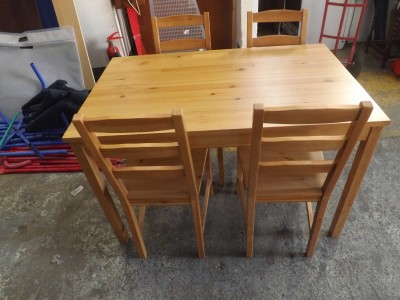 ikea jokkmokk dining table four chairs pine free local delivery