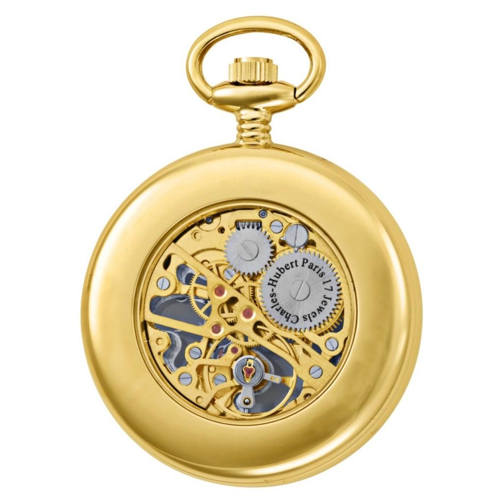 charles hubert gold plated open pocket
