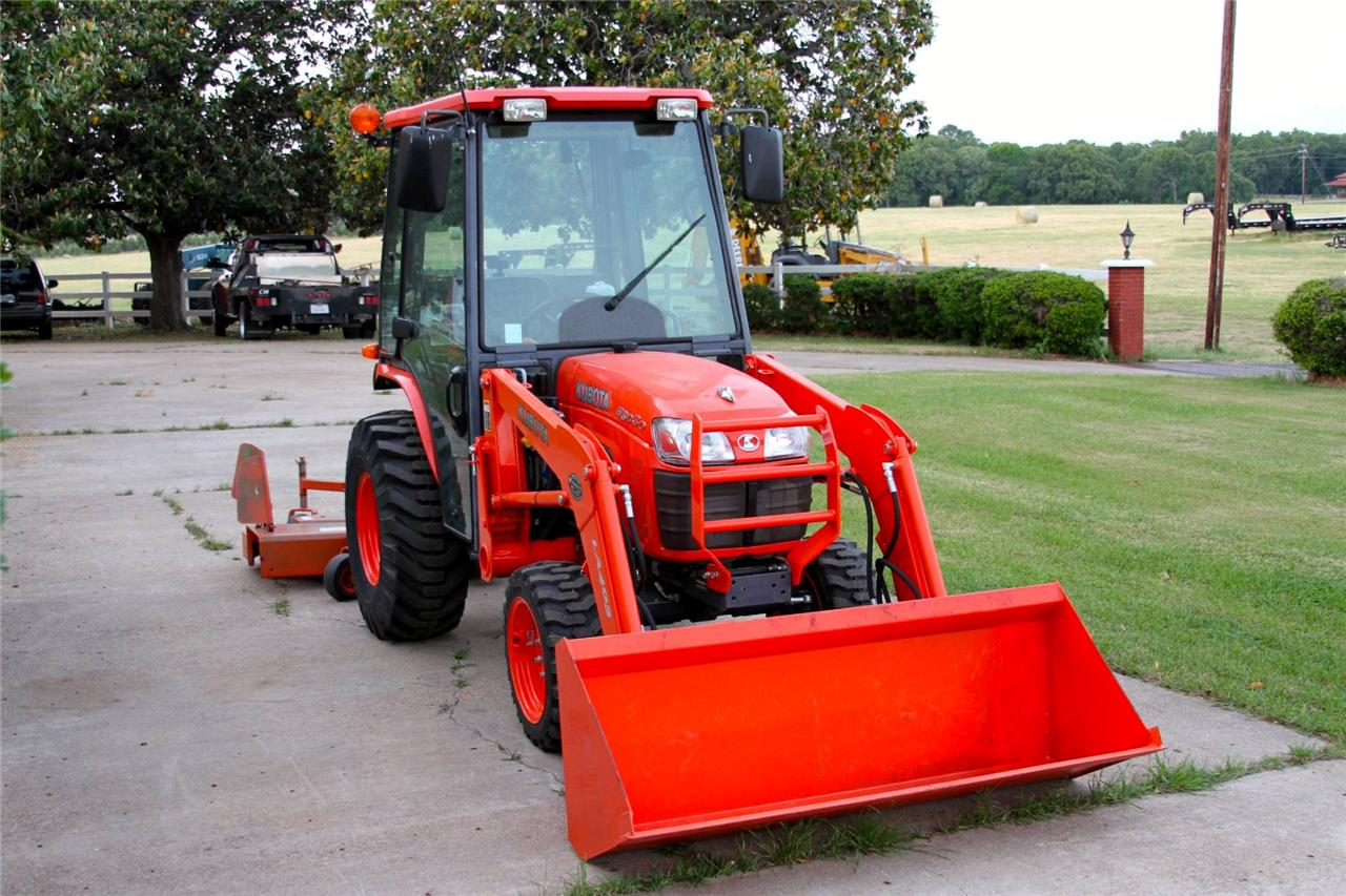 Kubota Mower Accessories : Kubota b cab tractor with loader