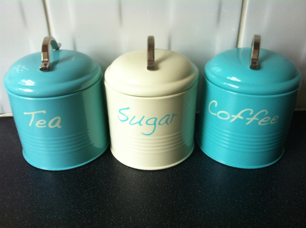 teal tea coffee sugar kitchen canister jar tins ideal pin by gini gallagher on for the home pinterest