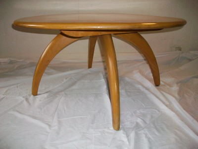Mid Century Modern Heywood Wakefield Coffee Table Lazy Susan Rotating Vintage Ebay