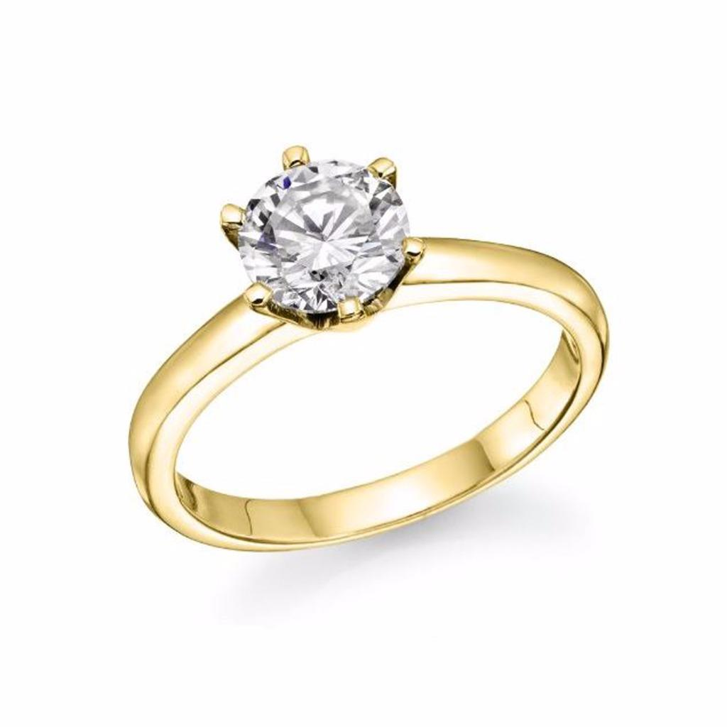womens cut wedding ring 2 00 solitaire lab created