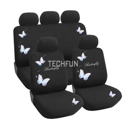 TRUYOO Butterfly 9PC Universal Car Vehicle Seat Cover
