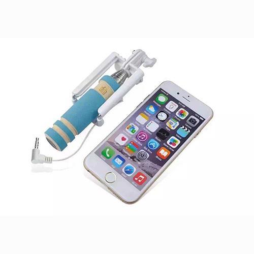 mini wired monopod handheld selfie stick phone holder for iphone samsung phon. Black Bedroom Furniture Sets. Home Design Ideas
