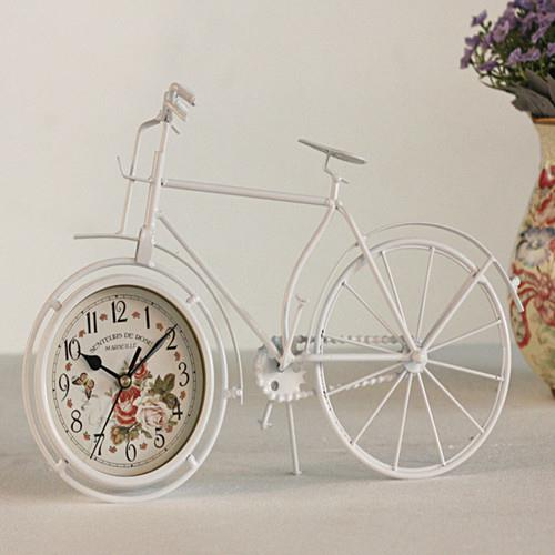 New vintage bicycle clock metal bike home decor table for Bicycle decorations home