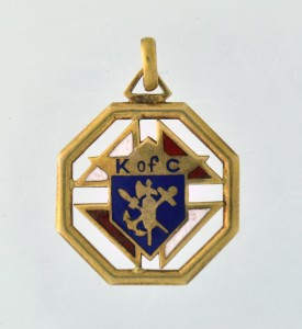 KNIGHTS of COLUMBUS - 10k Gold K of C ...