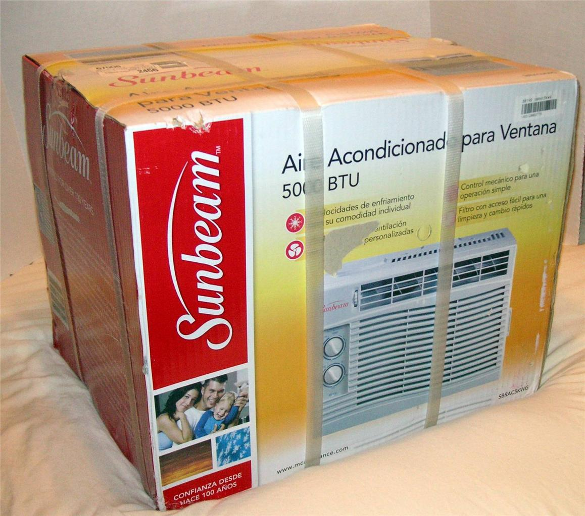 about Sunbeam 5000 BTU Window Air Conditioner NEW IN SEALED BOX #C00A14