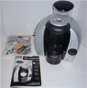 Braun Tassimo 3107 One Cup Coffee Maker w/Manual & Assorted T-Discs - Works LN eBay