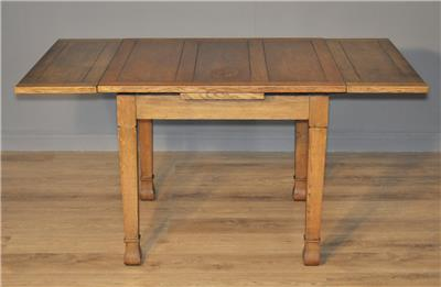 Large vintage light oak pull out extending dining kitchen table four 4 chairs ebay - Pull out kitchen table ...