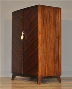 Attractive small vintage mahogany bow front double door for Small double front doors