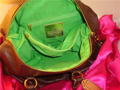 Gorgeous COACH Chocolate Brown Leather Madison Satchel Bag Handbag