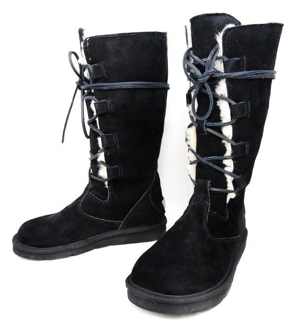ugg australia whitley tall boots 5122 lace up sheepskin. Black Bedroom Furniture Sets. Home Design Ideas