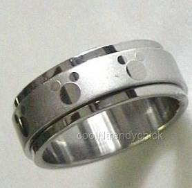 fantastic one of a kind spinning ring with mickey mouse symbols all around the middle band 9 total - Mickey Mouse Wedding Ring