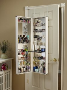 MIRROR COSMETIC ORGANIZER MAKE UP ORGANIZER ARMOIRE OVER ...