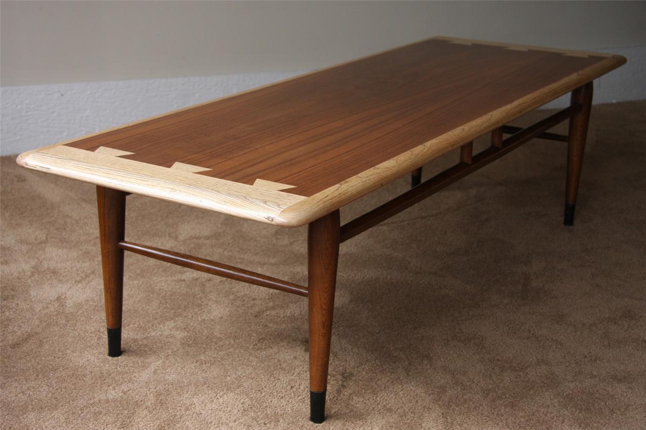 1960 39 s vintage lane dovetailed coffee table mid century modern ebay. Black Bedroom Furniture Sets. Home Design Ideas