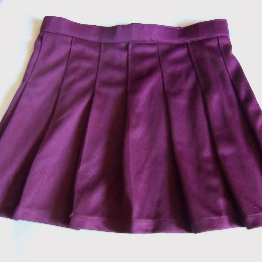maroon pleated skirt costume 26 29 33