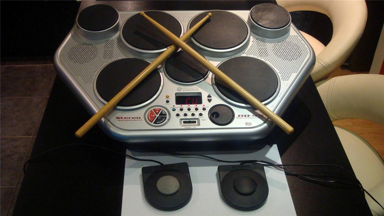 yamaha dd 55 digital drum machine with foot pedals stereo sampled drums kit ebay manual para yamaha dd-55 yamaha dd 55 manual español