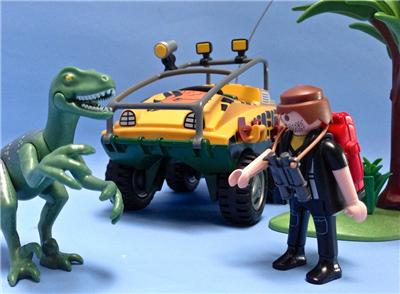 playmobil safari dinosaur jeep and figures play set ebay. Black Bedroom Furniture Sets. Home Design Ideas