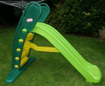 The Little Tikes Giant Slide in green is big on fun but small on storage. At a whopping cm long this fantastic green slide will thrill two to six year olds, but thanks to its clever lock and fold design it folds away easily for compact and convenient eastreads.mls: