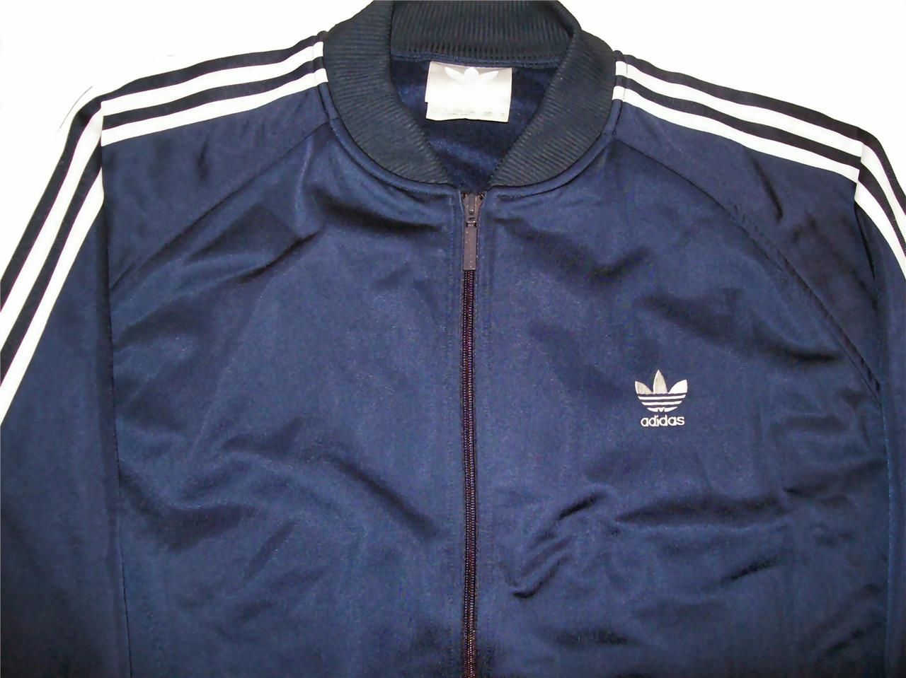 adidas superstar classic navy track jacket sz xl ebay. Black Bedroom Furniture Sets. Home Design Ideas