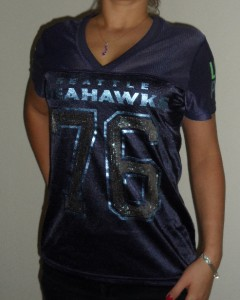 Pink Jersey T Shirt NFL Football Seattle Seahawks Panty Set S